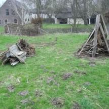houtstapel voor Hemelvaart